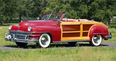One of a kind 1946 Chrysler two door Woodie convertible. Planned by Chrysler but never built, this car was built in 1996 by a collector.