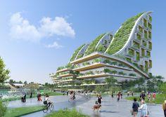 Galeria de Vincent Callebaut Architectures propõe eco-vizinhança em Bruxelas - 2