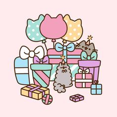 Pusheen and Stormy's celebration