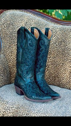 Sequin Inlay  Tanner Mark Boots Blue Cowboy Boots, Rodeo Boots, Cowboy Hats, Vintage Cowgirl, Cowgirl Chic, Western Wear, Western Boots, Shoe Boots, Shoes Sandals