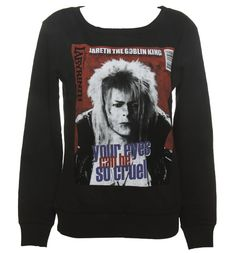 Ladies Black Your Eyes Can Be So Cruel Bowie Labyrinth Sweater