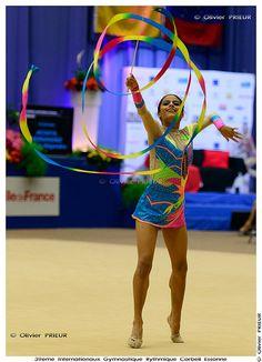 Beatriz Alejandra ACOSTA HERNANDEZ (ESA) at Corbeil-Essonnes International Rhythmic Gymnastics Tournament