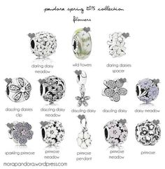 pandora spring 2015 florals #jewelrypandora