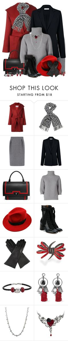 """""""Red, Black & Gray Winter Outfit"""" by helenehrenhofer ❤ liked on Polyvore featuring MaxMara, Barbour International, Trilogy, Atea Oceanie, Givenchy, WithChic, Chloé, Dents, Stephen Webster and Insignia Collection"""