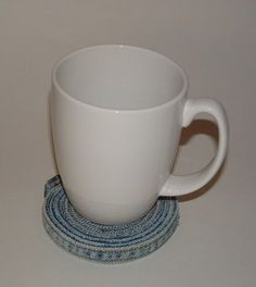 Denim Coaster with Cup