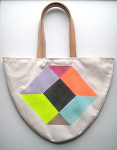 fluorescent colors have always made me happy, from 60's-70's black velvet and neon posters to the highlighters i used today. i also like this: Happy NEON Story: TOTE 4. $89.00, via Etsy.