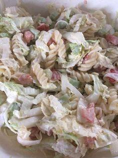 Tésztasaláta kínai kel salátával Pasta Salad, Potato Salad, Cabbage, Potatoes, Vegetables, Ethnic Recipes, Food, Egg Salad, Beverage
