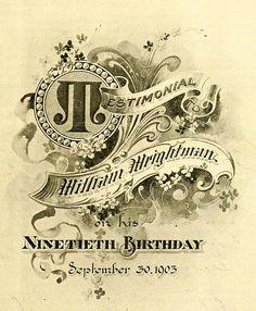 Typography 34 1904 by CharmaineZoe, via Flickr