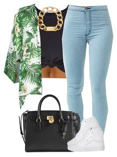 """"""""""" by livelifefreelyy ❤ liked on Polyvore featuring Michael Kors, Vans and Fashion Union"""