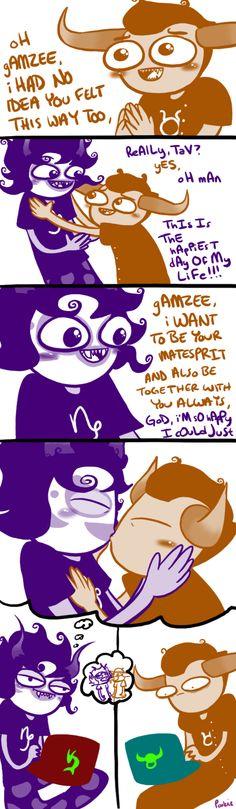 GamTav comic. Original by Pookie/-sadbnasdadnjsadsdadfadsgfdgfghgfjajhdskjasgdkjSDJHAKSDGASKHDSGJDGSFGHASDASHhkgkdsgfkgajsdhjasdjsagjkdaGKDGAKGDK:DDDDadgkasjdsaxd-/ Homestuck.