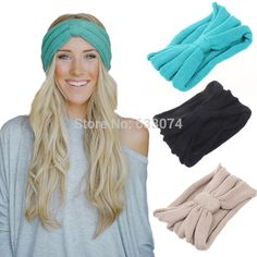 Nuevos 9 Colors mujeres giro extensible diadema turbante deporte Yoga abrigo de la cabeza Bandana Headwear accesorios del pelo envío gratis(China (Mainland))