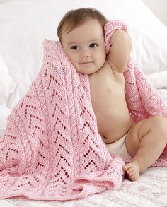 Caron Simply Soft Little Girl Pink Baby Blanket – Knitting-Warehouse Baby Patterns, Knitting Patterns Free, Knit Patterns, Free Knitting, Baby Knitting, Crochet Baby, Free Pattern, Blanket Patterns, Knit Crochet