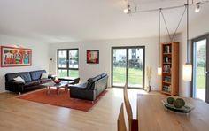 Fertighaus Wohnidee Wohnzimmer Klassisch Modern