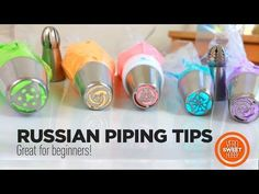 Russian Piping Tip Russian Decorating Tips, How To Make Mums, Russian Piping Tips, Icing Nozzles, Piping Icing, Buttercream Flowers, Baking And Pastry, Baking Tips, Soap Making
