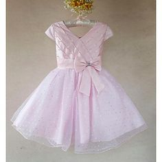 Girl's Sequin Flowers Christmas Party Dress – USD $ 47.99
