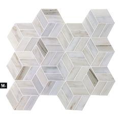 MUDTILE floor or wall stone tile / pattern name: St-Henri / color: Mist / 12 x 10.5 mudtile.com