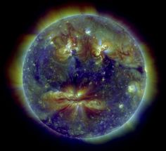 NASA image of the sun captured December 8, 2010 by Solar Dynamics Observatory