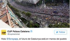 La CUP respon a Santamaría: 'El futur de Catalunya és en mans del poble català' | VilaWeb