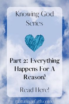 Does everything happen for a reason? You'll be surprised to see a few examples which were never part of God's original idea. Everything Happens For A Reason, Do Everything, Understanding The Bible, How To Apply, How To Get, Knowing God, Faith In God, Getting To Know, Word Of God
