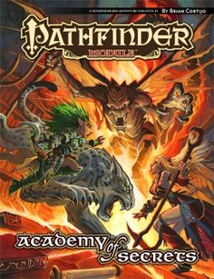 Pathfinder Module: Academy of Secrets (PFRPG)   Book cover and interior art for Pathfinder Roleplaying Game - PFRPG, 3rd Edition, 3E, 3.x, 3.0, 3.5, 3.75, Role Playing Game, RPG, Open Game License, OGL, Paizo Inc.   Create your own roleplaying game books w/ RPG Bard: www.rpgbard.com   Not Trusty Sword art: click artwork for source