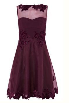 Daytime Wedding Guest Dress | Wedding Guest Dresses - Karen Millen Velvet Applique Prom Dress, £235 ...