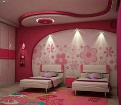 Children's Bedroom Decorating Ideas Might it be the time for you to put the nursery mattress away? Below are a few ideas that will assist you along with your son or daughter… Continue Reading → Bedroom Wall Designs, Bedroom Cupboard Designs, Bedroom Bed Design, Bedroom Decor, Girls Bedroom, House Ceiling Design, Ceiling Design Living Room, Bedroom False Ceiling Design, Interior Design Images
