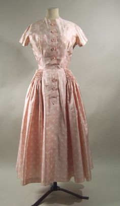 Dress, silk, Pierre Balmain designer, French, 1954