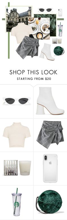 """""""Untitled #2253"""" by katerina-rampota ❤ liked on Polyvore featuring Le Specs, MM6 Maison Margiela, Staud, Henri Bendel and Speck"""