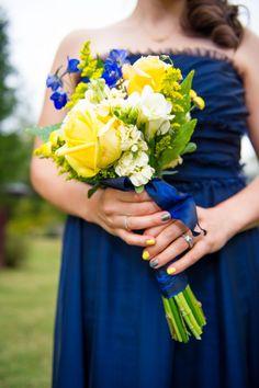 Blue & Yellow Wedding   Photo by Ace Photography   #CedarwoodWeddings
