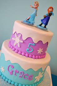 Elsa and Anna Cake Frozen Themed Birthday Cake, Frozen Birthday Theme, Elsa Birthday, 4th Birthday, Birthday Ideas, Frozen Cake, Frozen Party, Bolo Frozen, Pastel Frozen