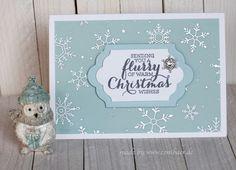 www.conibaer.de - Christmas card / Weihnachtskarte #stampinup #snowflake #Schneeflocke