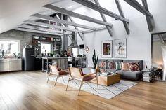 Ático con aires de loft industrial - Blog tienda decoración estilo nórdico - delikatissen