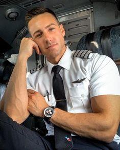 Likes, Comments - Garrett Hot Army Men, Sexy Military Men, Hot Men, Pilot Uniform, Men In Uniform, Cute White Guys, Cute Guys, Raining Men, Mode Inspiration