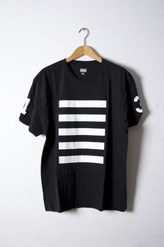 black and white tee. Via LET IT BE