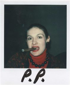 ANDY WARHOL (1928-1987) Andy and Paloma Picasso inscribed 'P.P.' (lower margin of the left image) two unique polaroid prints each: 4¼ x 3 3/8 in. (10.8 x 8.6 cm.) Executed circa 1973.