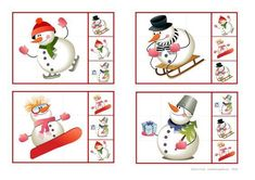 Cut out the cards and use clothpins or clips to mark the right pictures. By Autismespektrum. Preschool Christmas, Christmas Games, Christmas Crafts, Xmas, Winter Activities For Kids, Preschool Activities, Crafts For Kids, Snow Much Fun, Winter Fairy