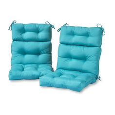 Greendale Home Fashions Teal High Back Patio Chair Cushion at Lowe's. Enhance the look and feel of your patio furniture with this Greendale Home Fashions Outdoor High Back Chair Cushion Set of These cushions measure x Patio Furniture Cushions, Outdoor Lounge Chair Cushions, Patio Chairs, Outdoor Chairs, Indoor Outdoor, Outdoor Furniture, Outdoor Living, Backyard Seating, Outdoor Seating