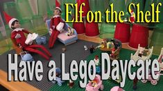 Our Elves on the Shelf Have a Lego Daycare with a bunch of Lego Characters such as Batman and Minecraft Steve ________________________________________ The El. Shelf Board, Shelf Ideas, Some Ideas, Elf On The Shelf, Lego, Shelves, Magic, Christmas, Shelving