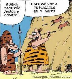 ¿Existía Facebook en la prehistoria? #BuenosDías #FelizSábado