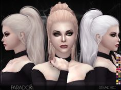 Paradox Female Hair by Stealthic at TSR via Sims 4 Updates