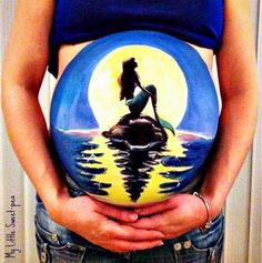 "Her ""belly bump"" paintings are a cute way to remember the pregnancy… and thanks to the internet, we all get to share in the fun. Description from theinsuranceauthority.com. I searched for this on bing.com/images"