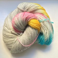 Such pretty colours on the yarns this weekend - I love this pastel one with grey!