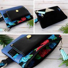 Ladies Women Faux Leather 3 in 1 Wristlet Belt Crossbody Design Phone Clutch Bag