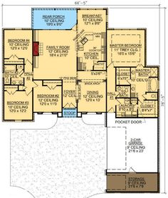 Secluded Master Suite - 56314SM floor plan - Main Level