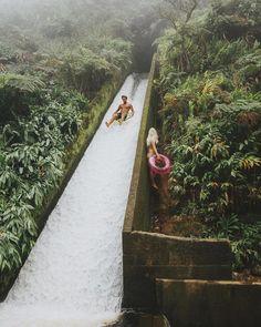 Water slide in Hawaii 💦
