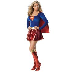 DC Comics Supergirl Deluxe Costume - Adult, Women's, Size: Large, Red