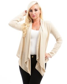 I'm selling Lovely Women's Cardigan LACE BACK  Draped Front Women's Size 2X  HIDES BELLY FAT! - $9.99 #onselz