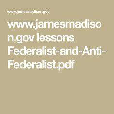 federalists vs anti federalists cartoons google search   jamesmadison gov lessons federalist and anti federalist pdf