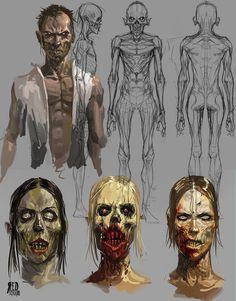 Zombie sketch by Otto Schmidt Arte Zombie, Zombie Art, Otto Schmidt, Zombie Illustration, Character Illustration, Character Concept, Character Art, Concept Art, Arte Horror