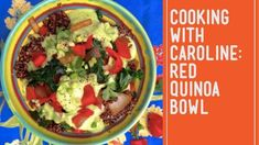 Plant-Based: Red Quinoa Bowl with Avocado Dressing Certified Plantricious Plant Based Recipes, Raw Food Recipes, List Of Spices, Avocado Dressing, Quinoa Bowl, Plant Protein, Cooking Together, Base Foods, Nutrition